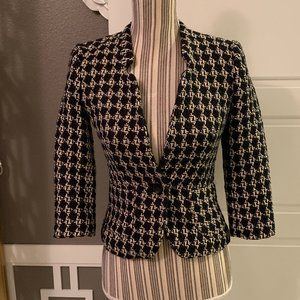 Banana Republic Petite Houndstooth Fitted Blazer